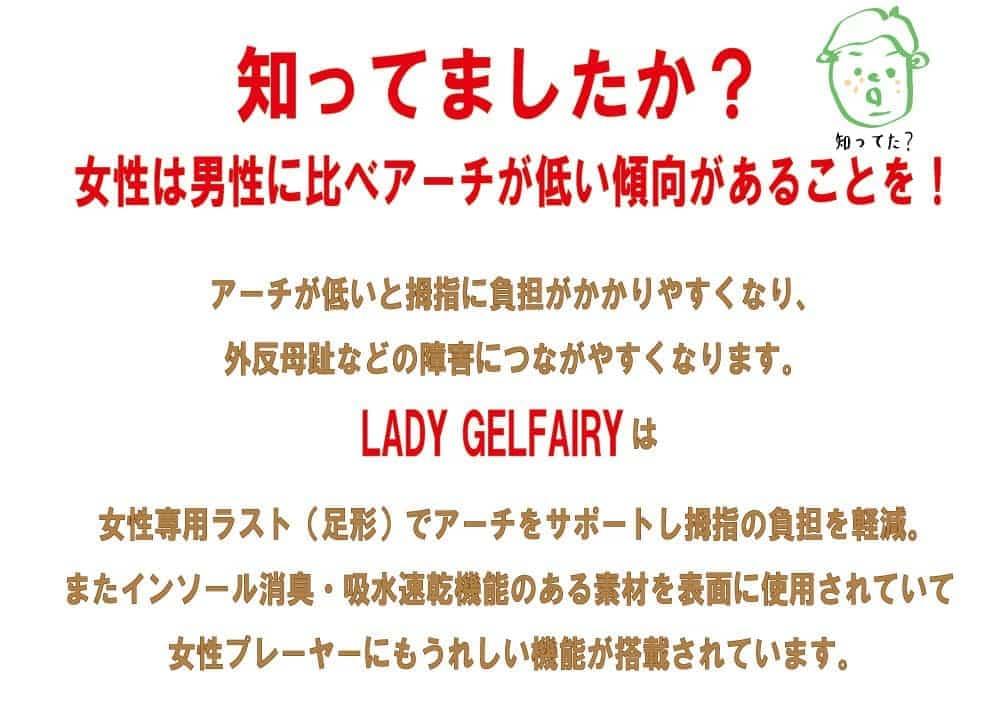 LADY GELFAIRYは女性の足形で作られているバッシュです。