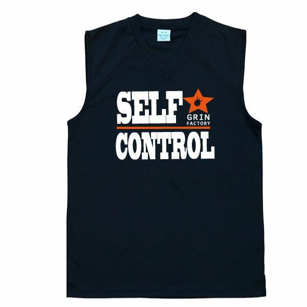 バスケットボール ノースリーブ「セルフコントロール」ブラック