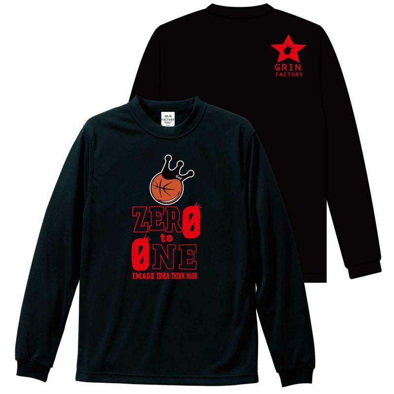 バスケットボール長袖Tシャツ「ZERO TO ONE」