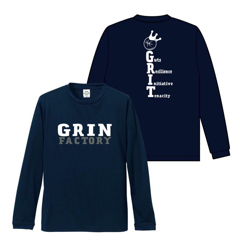 バスケットボール長袖Tシャツ「GRIT(やり抜く力)」