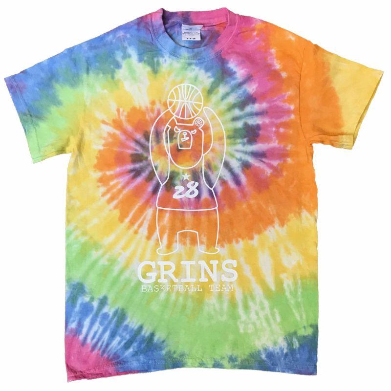 タイダイ染めコットンTシャツ「グリンベア:エタニティ」