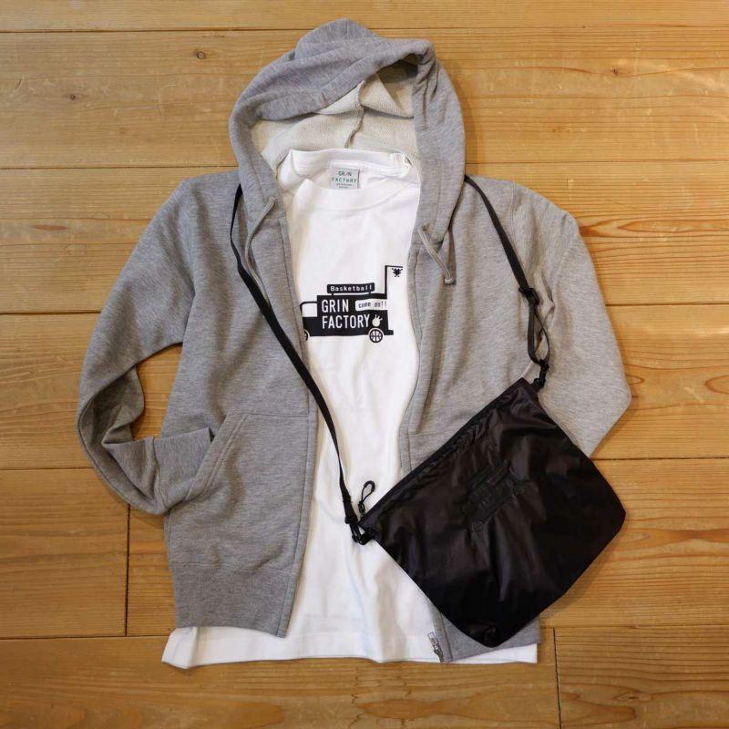 コットンTシャツ(綿100%) 「GRINトラック」 袖