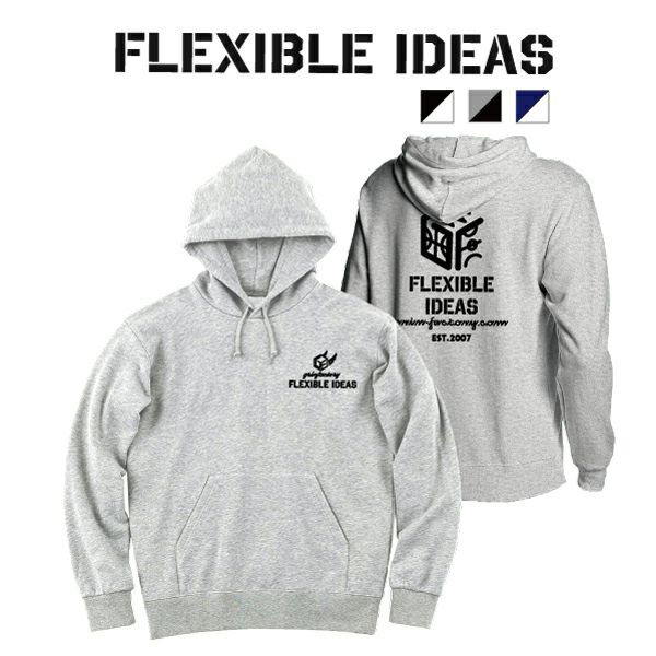 スウェットプルオーバーパーカー「FLEXIBLE IDEAS」