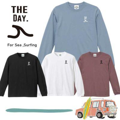 サーフィン長袖Tシャツ「THE DAY for surfing」
